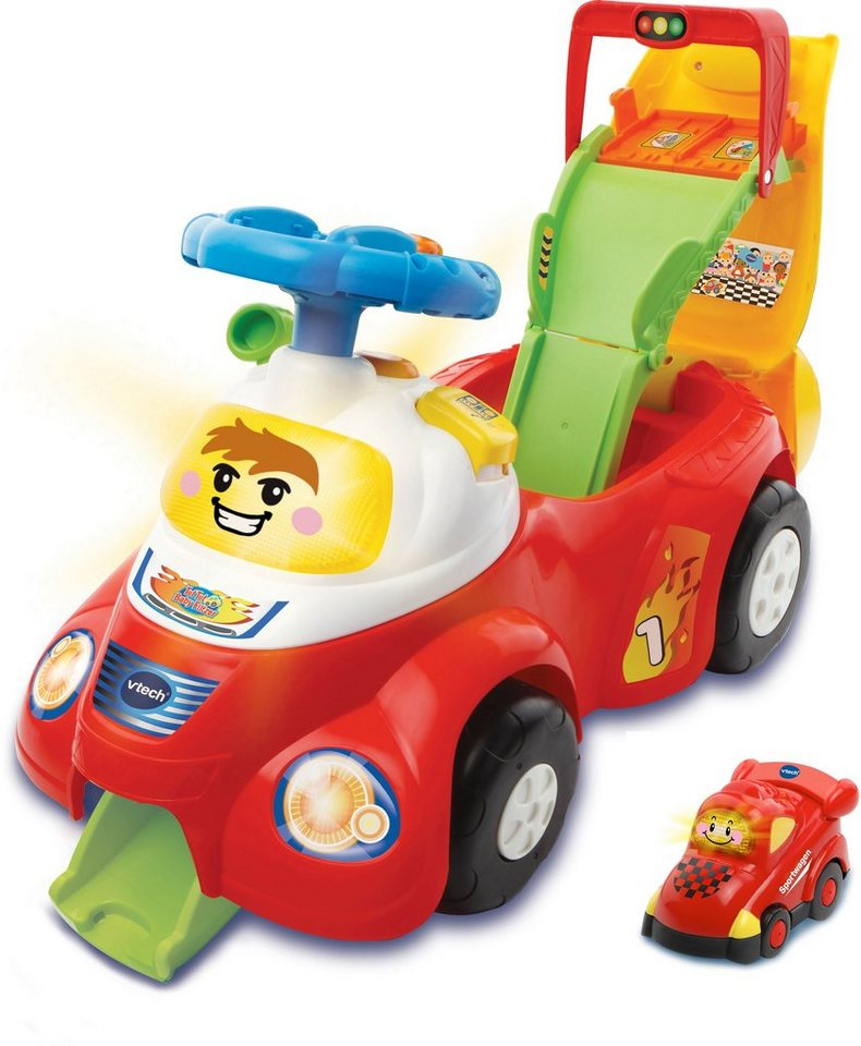 VTech Rutscherfahrzeug mit interaktivem Lenkrad, »Tut Tut Baby Flitzer 2in1 Rutschauto«