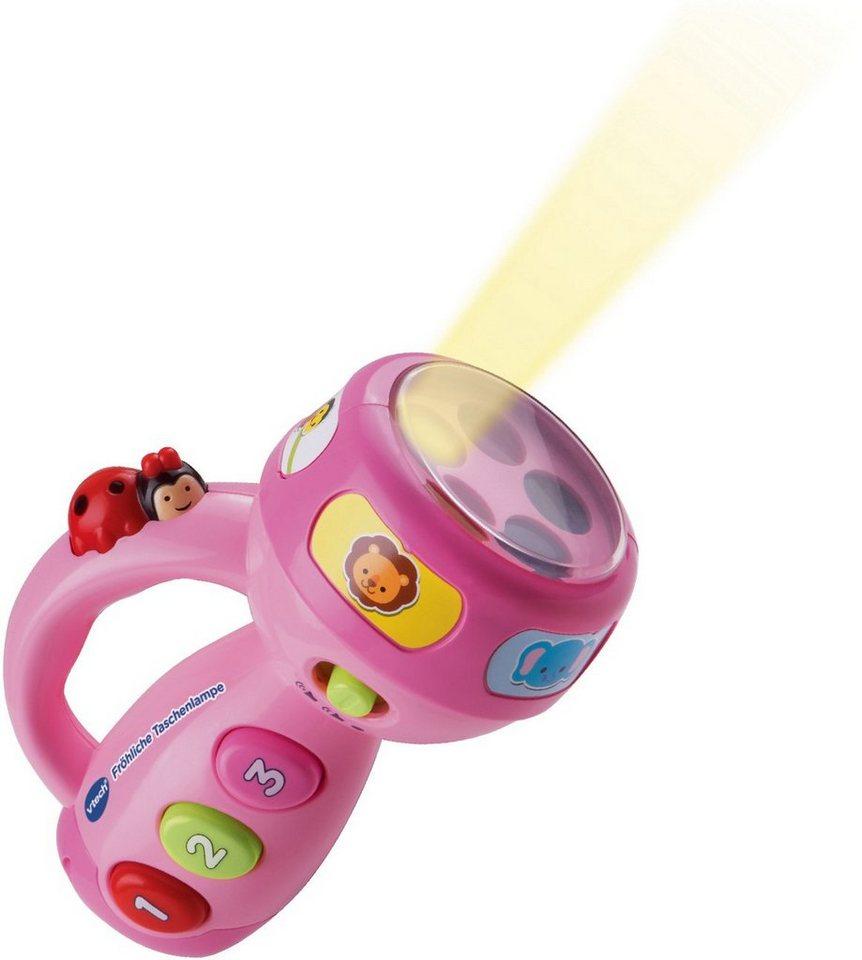 VTech Lernspielzeug mit Licht und Sounds, »VTech Baby Fröhliche Taschenlampe Pink« in Pinnk