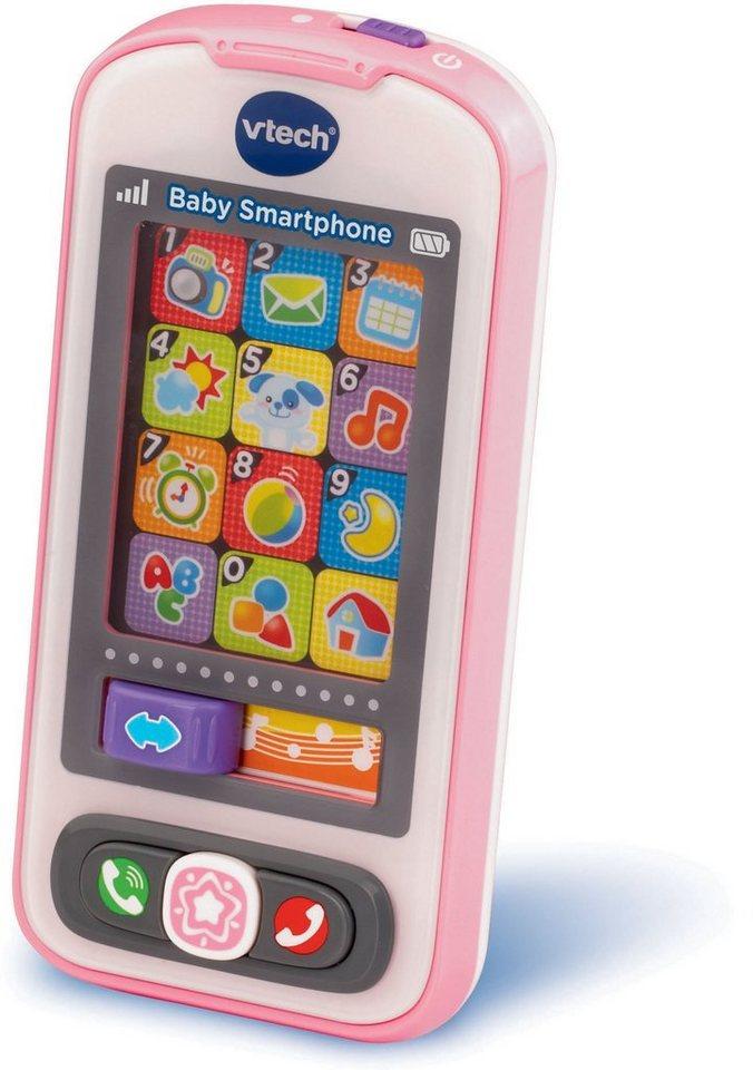 VTech Spieltelefon mit Soundeffekten, »VTech Baby, Baby Smartphone Pink« in Pink