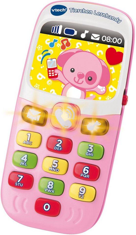 VTech Spieltelefon mit Licht und Ton, »VTech Baby Tierchen Lernhandy Pink« in Pink