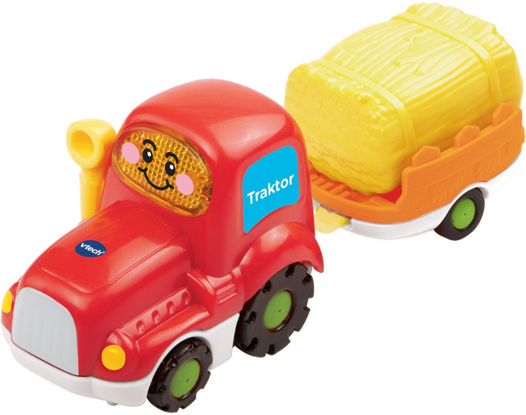 VTech Spielfahrzeug mit Licht und Sound, »Tut Tut Baby Flitzer Traktor & Anhänger«