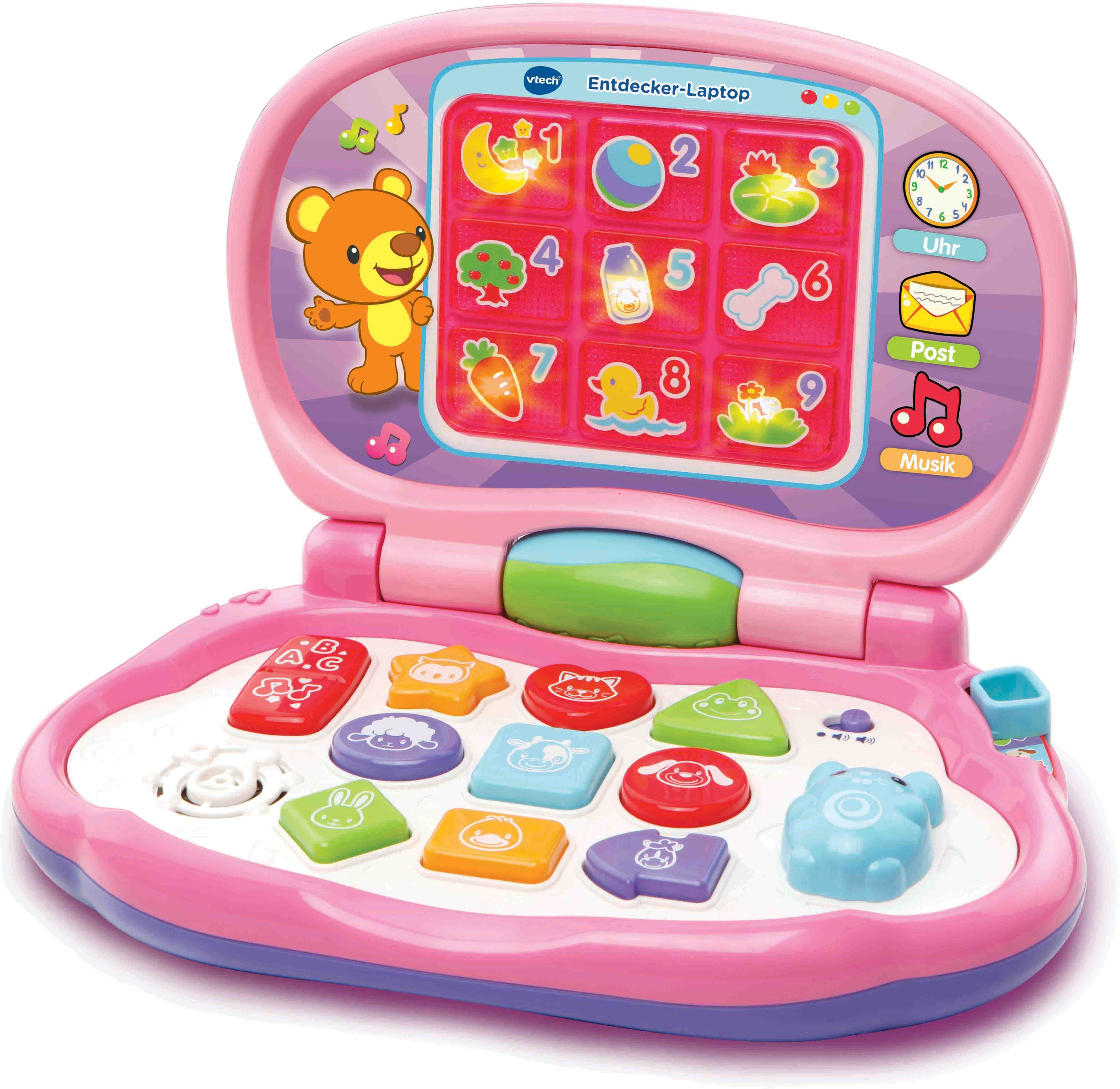 VTech Lernspielzeug, »Entdecker Laptop, pink«