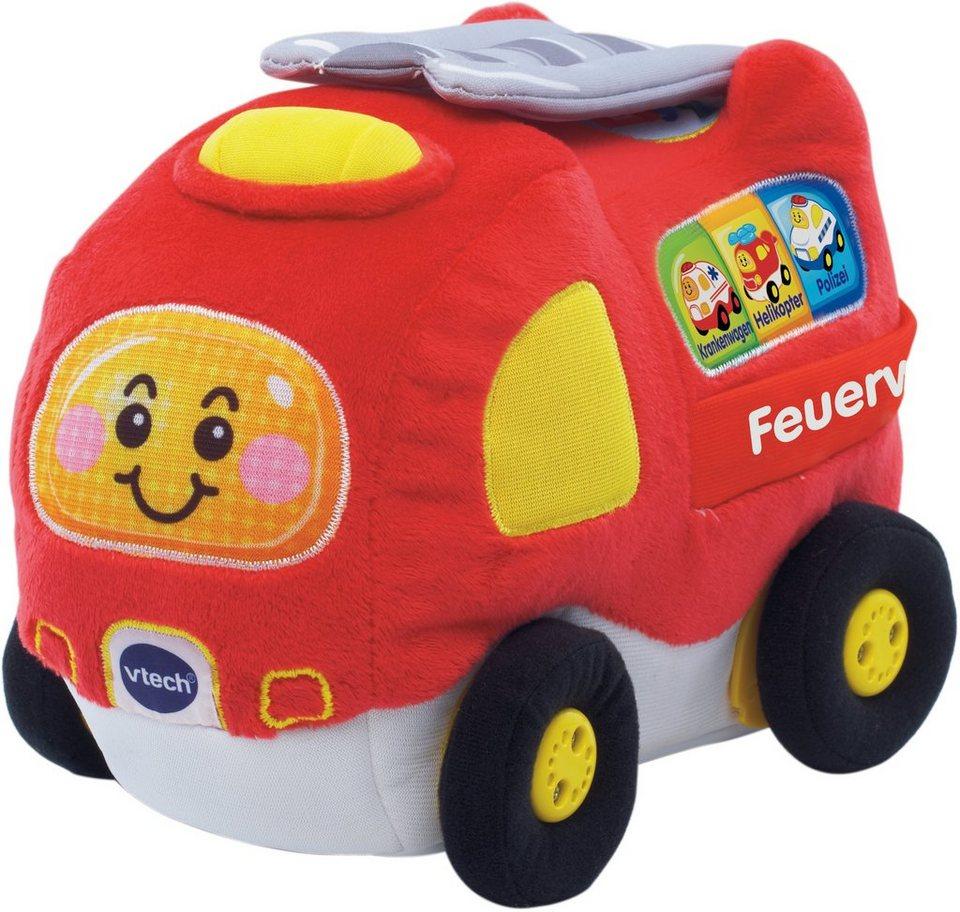 VTech Spielfahrzeug mit Licht und Sound, »Tut Tut Baby Flitzer Krabbelspaß Feuerwehr« in Rot