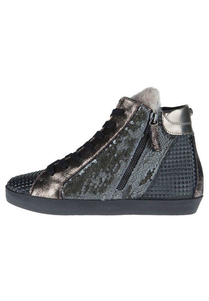 Donna Carolina Sneaker »MIX STONE HIGH-TOP« in grau/schwarz