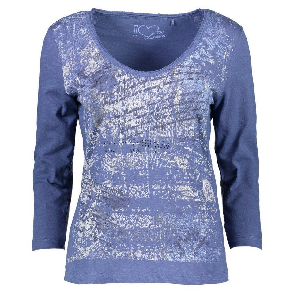 LERROS LERROS T-Shirt mit Print in WATER BLUE