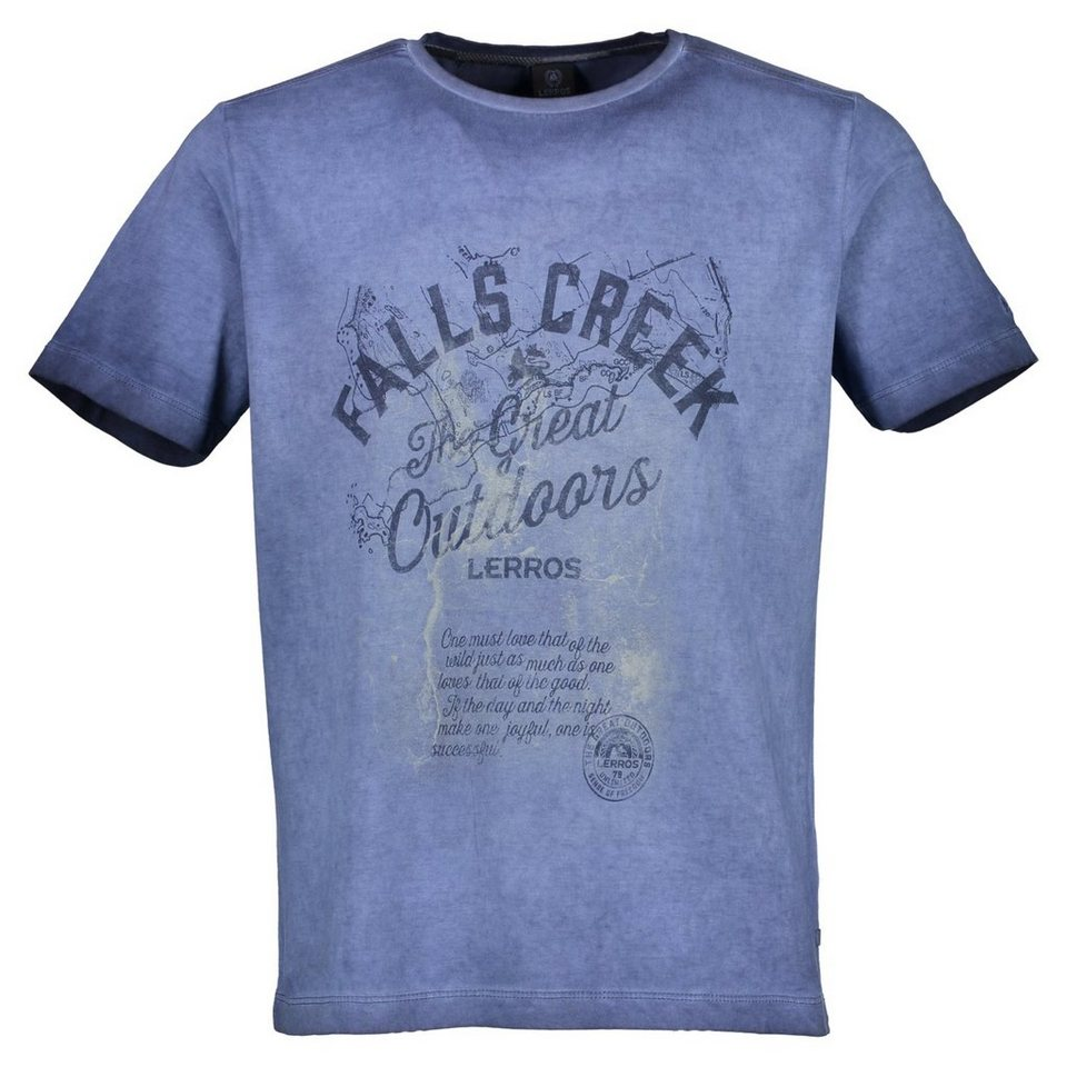 LERROS T-Shirt mit Print in DENIM BLUE