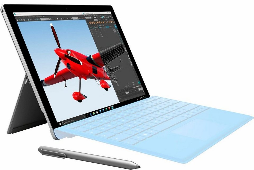 Microsoft Surface Pro 4 TH2-00003 Tablet-PC, Microsoft® Windows® 10 Home, Intel Core i7 in silberfarben