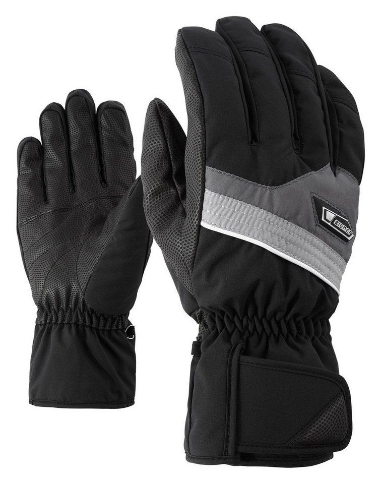 Ziener Handschuh »GABORO glove ski alpine« in black/graphite