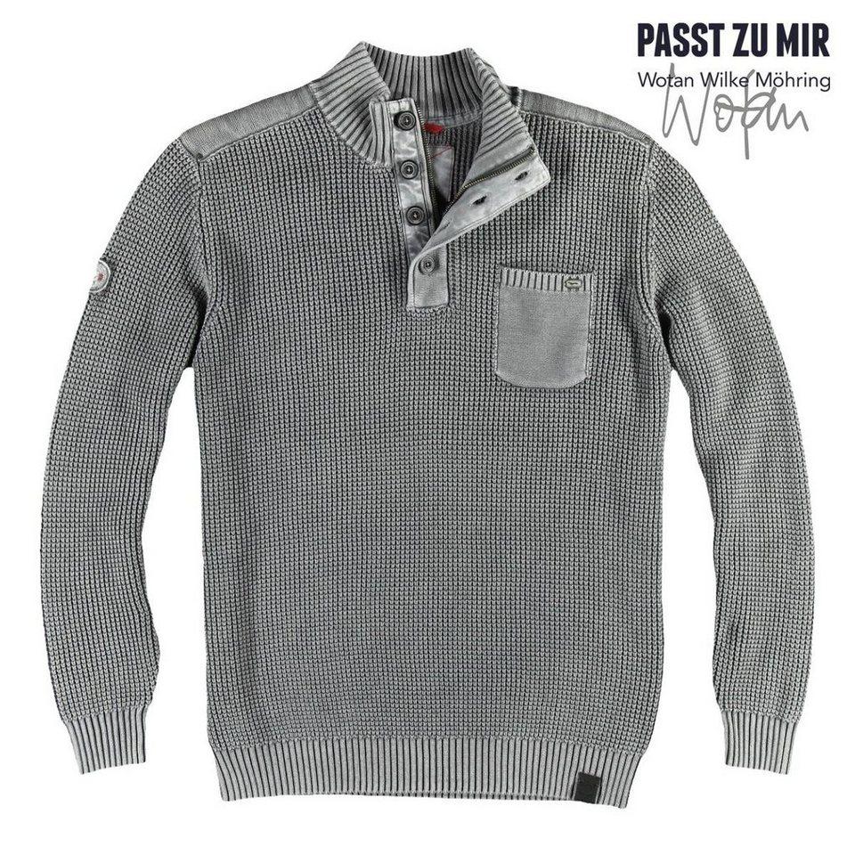 engbers Troyer-Pullover in Kieselgrau