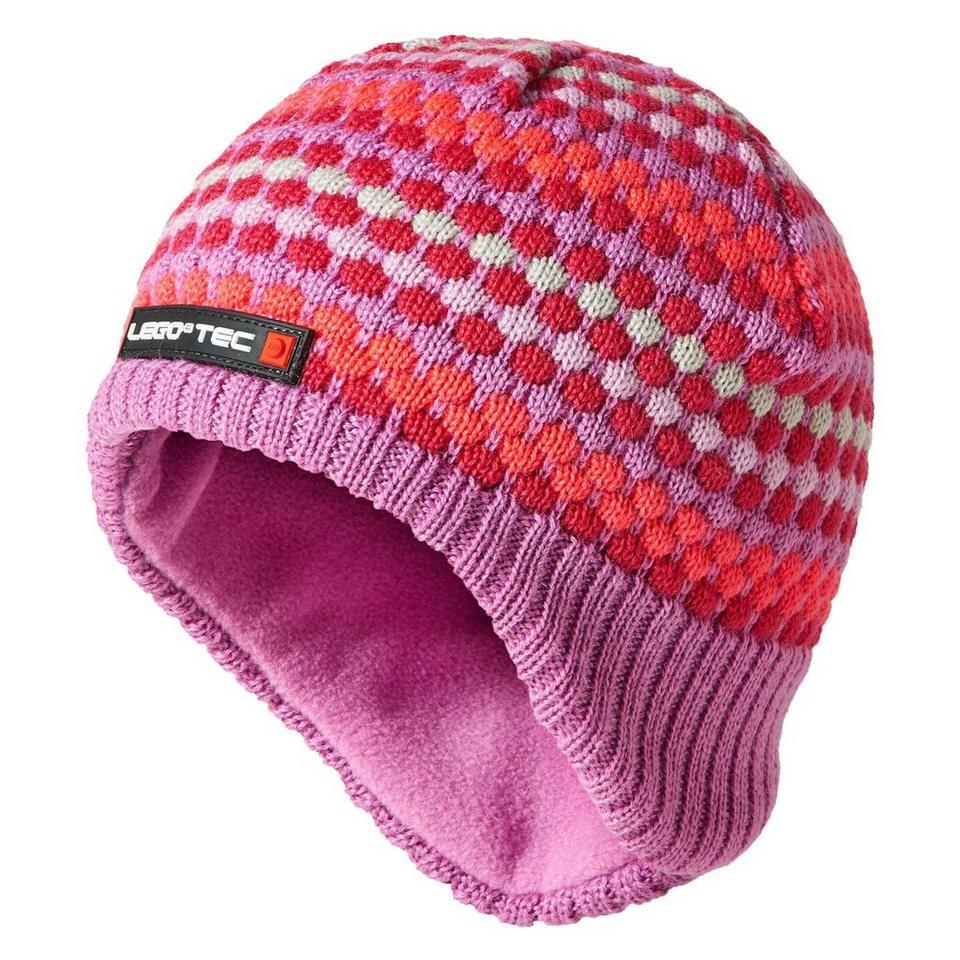 """LEGO Wear Winterstrickmütze Kappe Skimütze LEGO® TEC AMIR Hut """"Pixel"""" HAT in pink"""