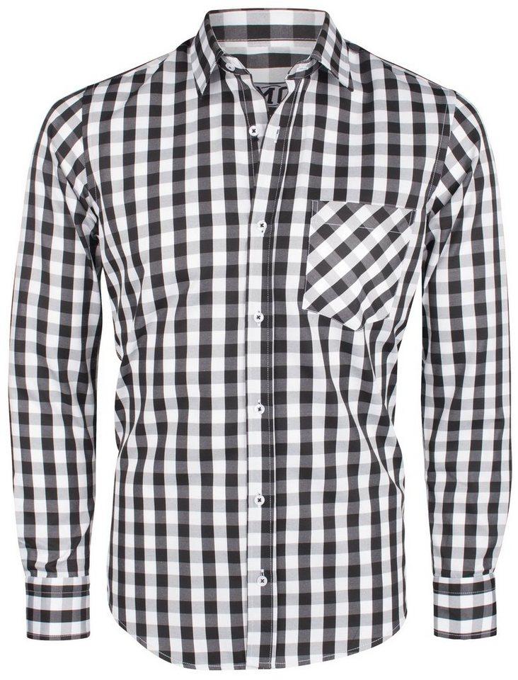 MO Hemd in schwarz-weiß