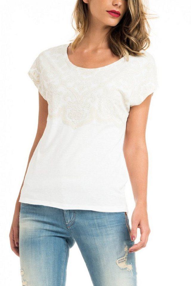 salsa jeans T-Shirt, kurzarm »VICTORIA« in White