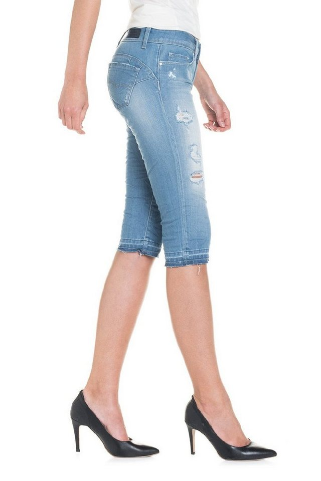 salsa jeans Kurze Hose »Push Up/ Wonder« in Blue