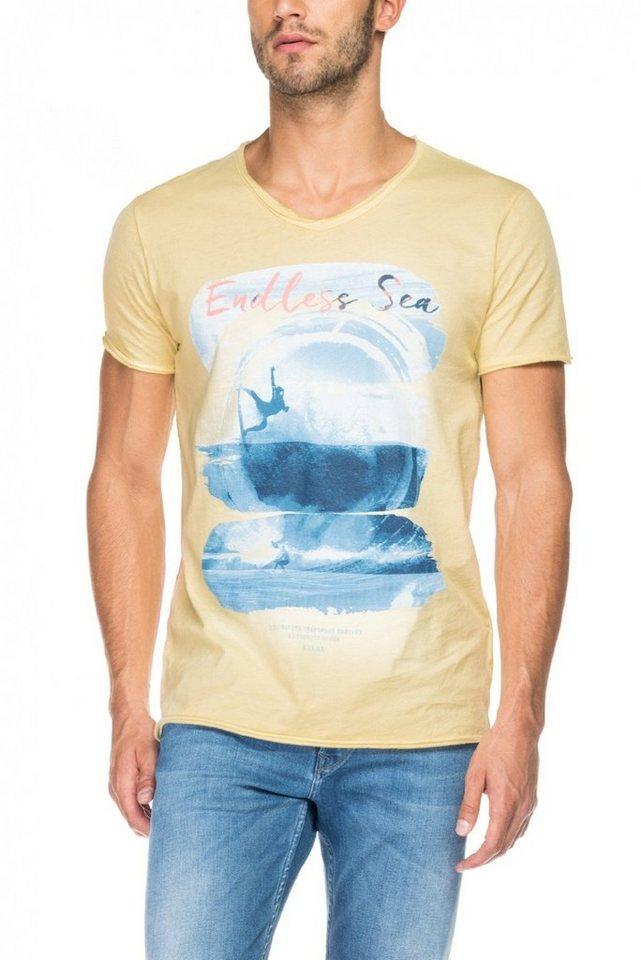 salsa jeans T-Shirt, kurzarm in Yellow