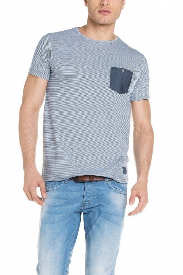 salsa jeans T-Shirt, kurzarm »PALM BEACH« in Blue