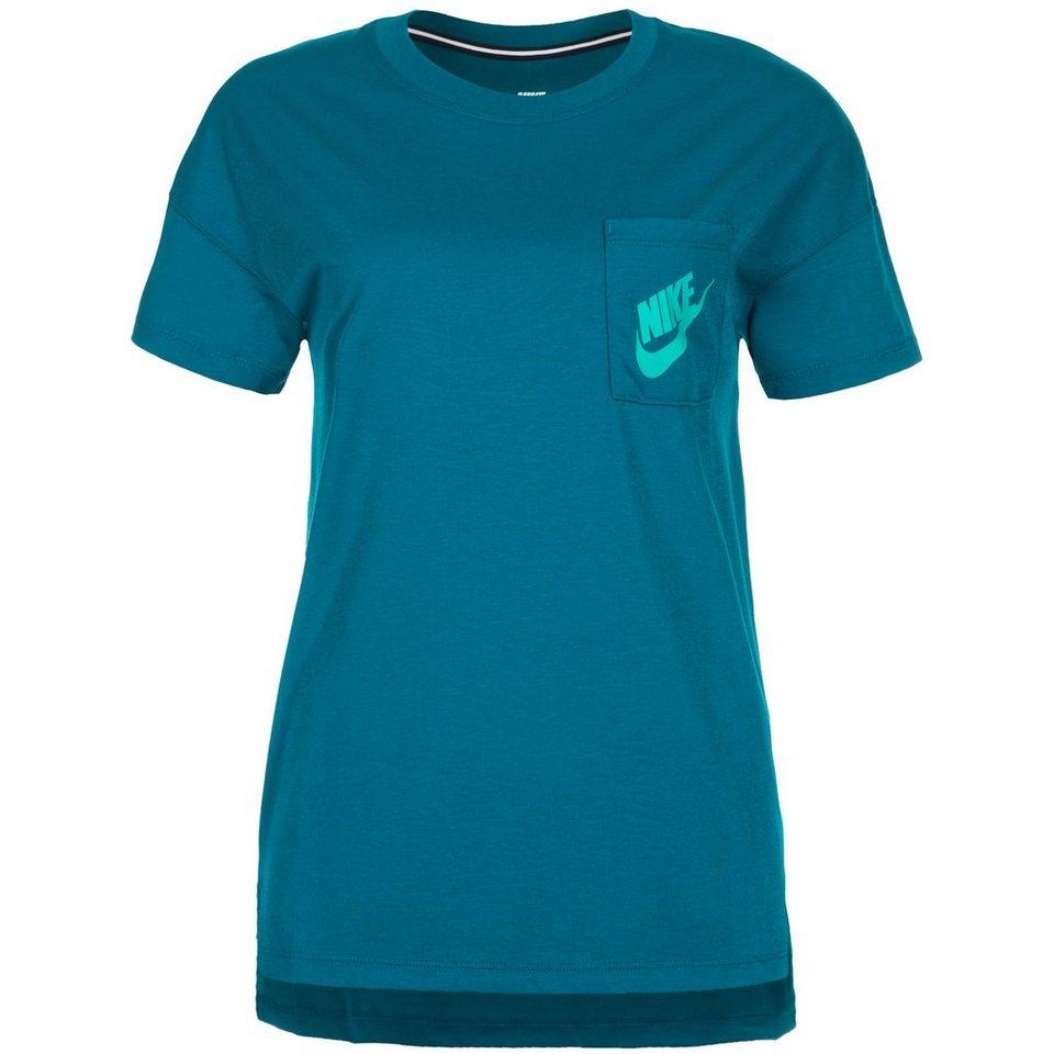 Nike Sportswear Signal T-Shirt Damen in petrol / grün