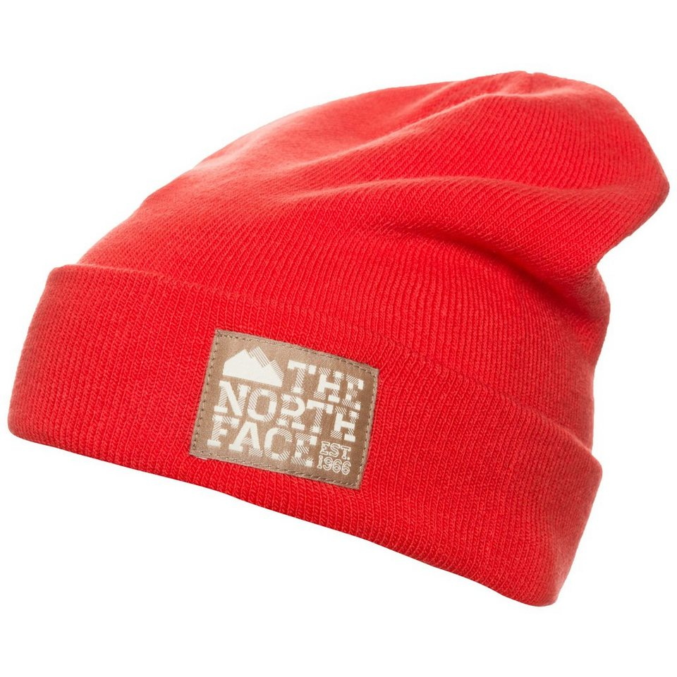 THE NORTH FACE Dock Worker Beanie in orangerot