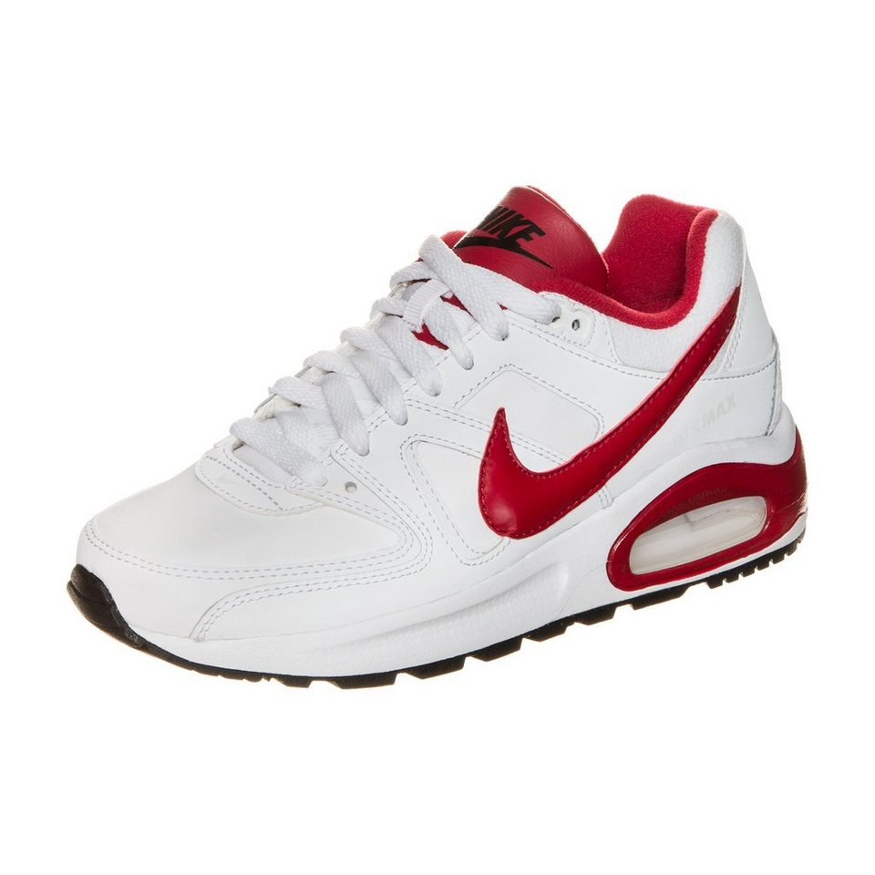 Nike Sportswear Air Max Command Flex Leather Sneaker Kinder in weiß / rot / schwarz