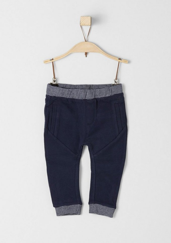 s.Oliver RED LABEL Junior Jogging Pants mit Bündchen für Babys in dark blue