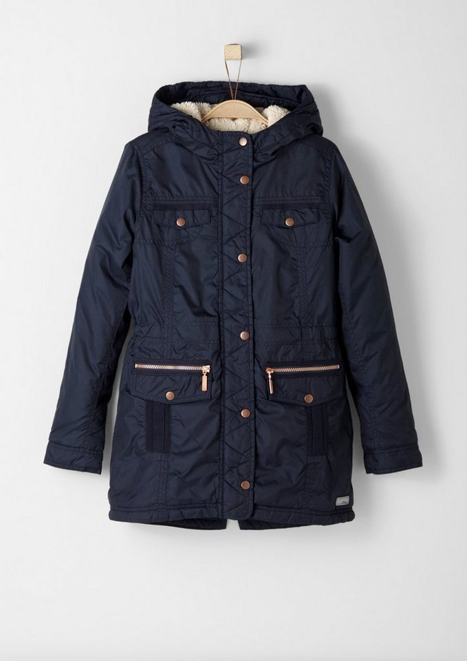 s.Oliver RED LABEL Junior Funktionale Winterjacke für Mädchen in dark blue