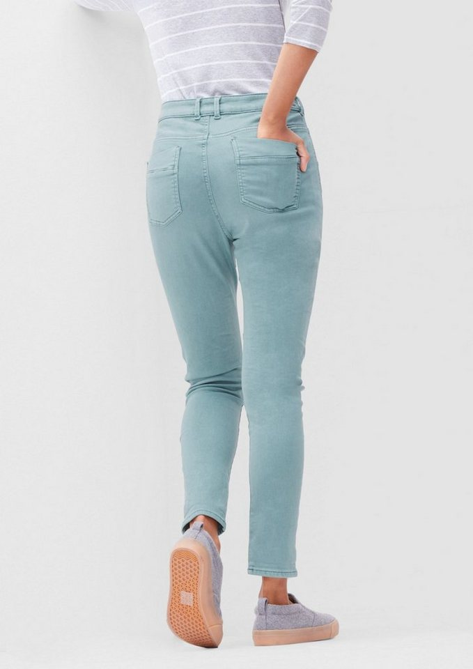 s.Oliver RED LABEL Bowleg: Colored Stretch-Jeans in urban blue