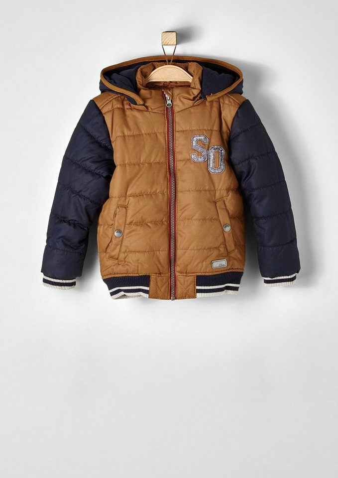 s.Oliver RED LABEL Junior Multifunktionale Winterjacke für Jungen in milk chocolate