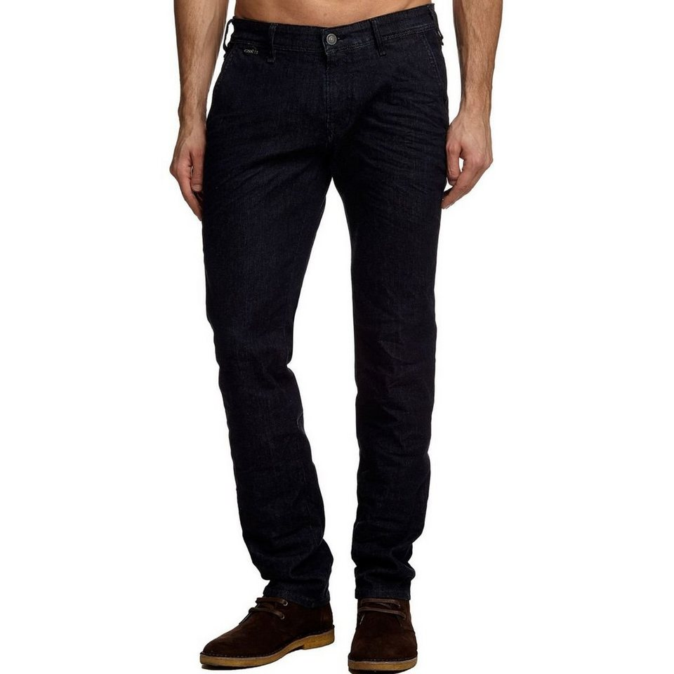Guess CHINOJEANS SKINNY in Schwarz