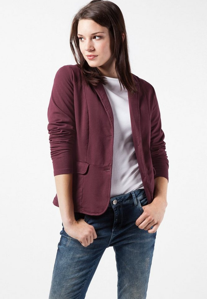 Street One Sweatblazer Kenni in night plum