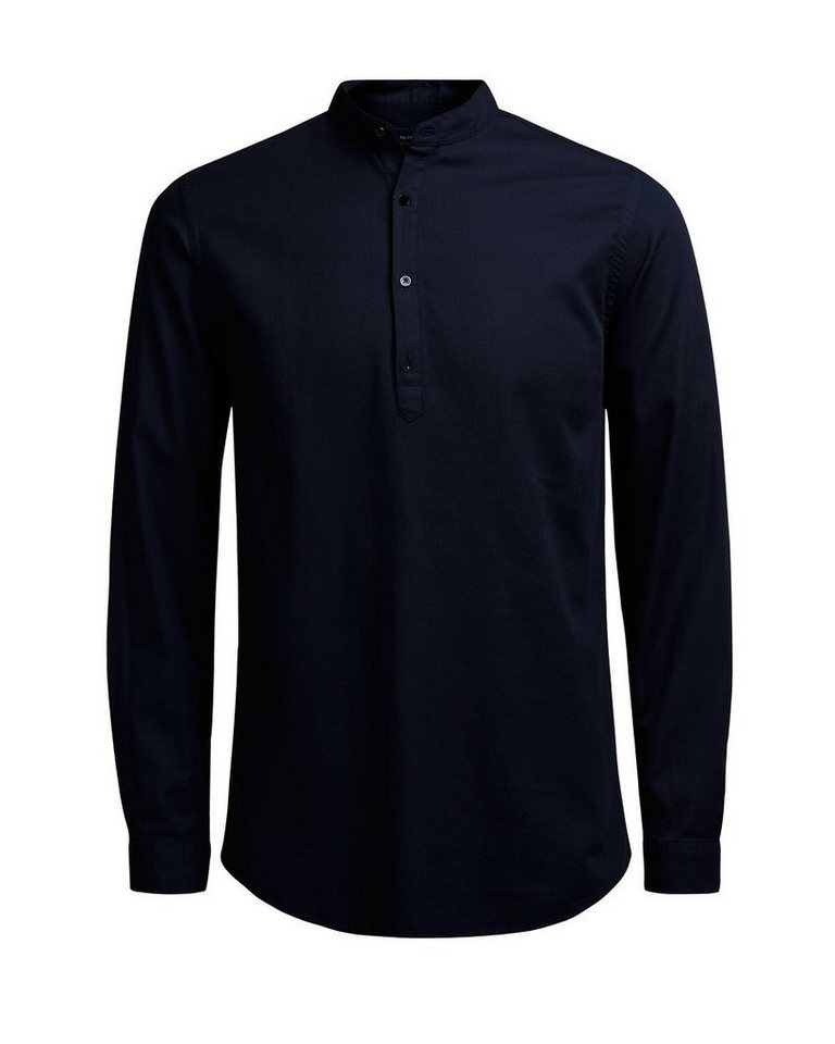 Jack & Jones Stehkragen- Langarmhemd in Navy Blazer