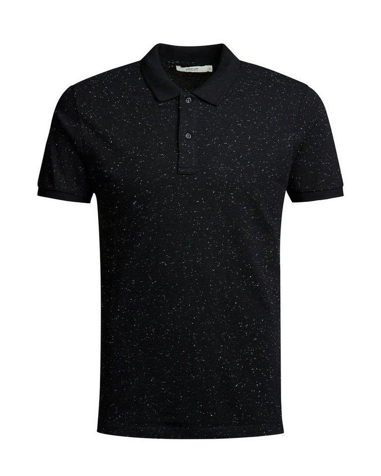 Jack & Jones Melange- Poloshirt in Black