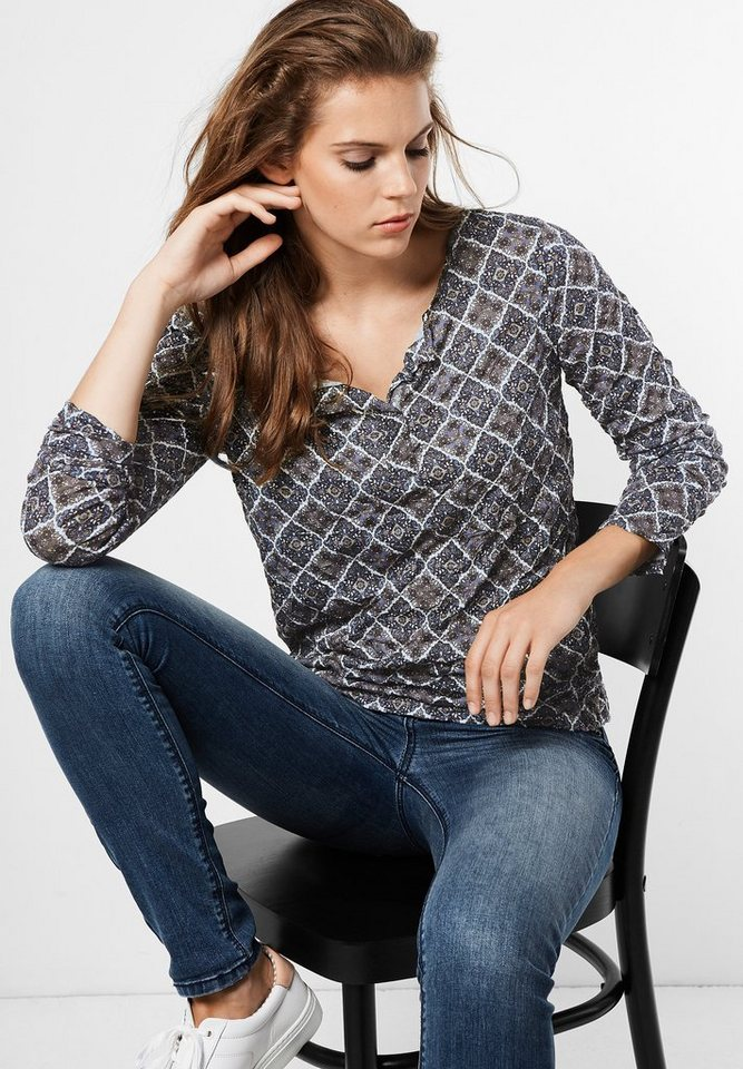 Street One Crashshirt mit Print Ines in delta blue