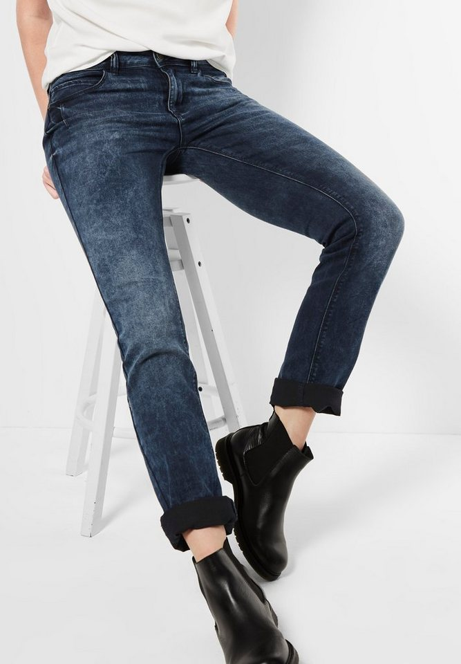 Street One Casual Fit Denim Jane in heavy dark blue rand