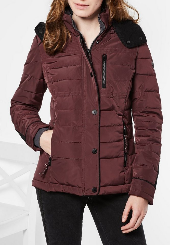 CECIL Steppjacke mit Thermometer in merlot