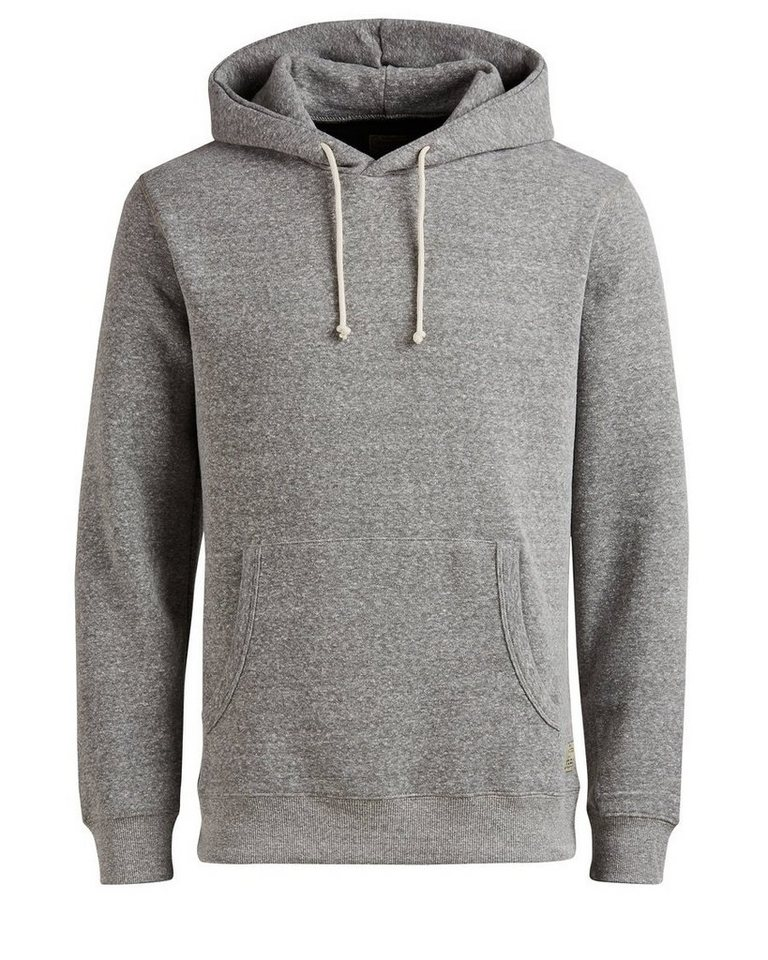 Jack & Jones Klassischer Hoodie in Light Grey Melange