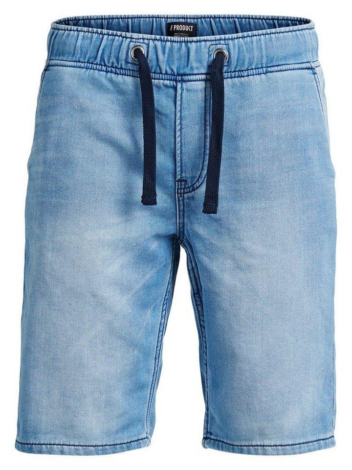 PRODUKT Jogging- Jeansshorts in Light Blue Denim
