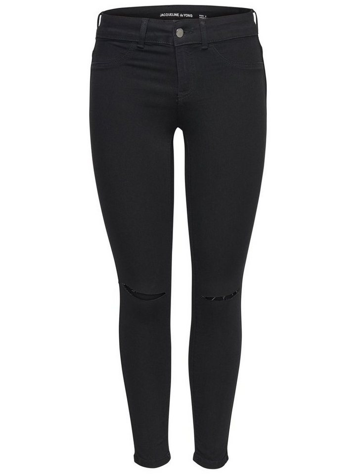 Only JDY Low fano Kneecut Skinny Fit Jeans in Black Denim