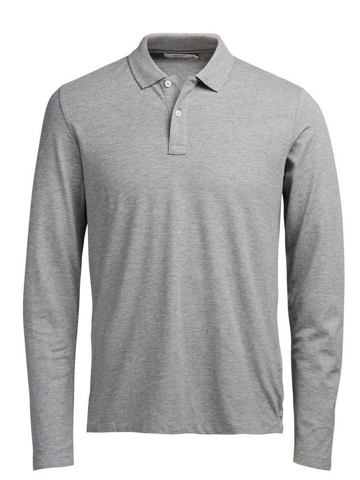 Jack & Jones Minimal- Poloshirt in Light Grey Melange
