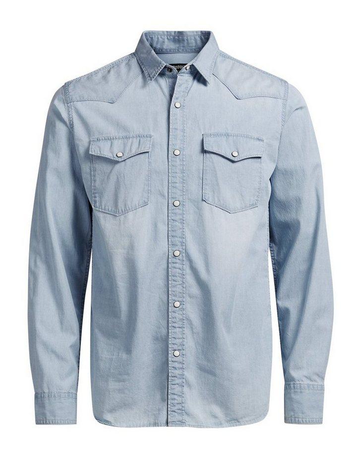 PRODUKT Jeans- Hemd in Light Blue Denim