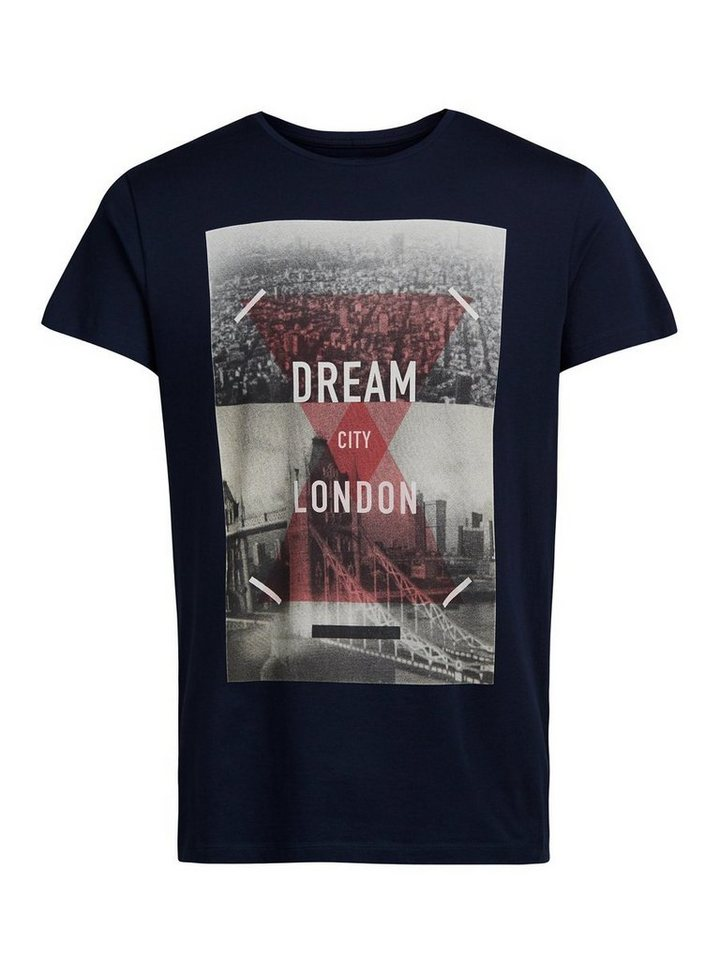 PRODUKT Print T-Shirt in Navy Blazer