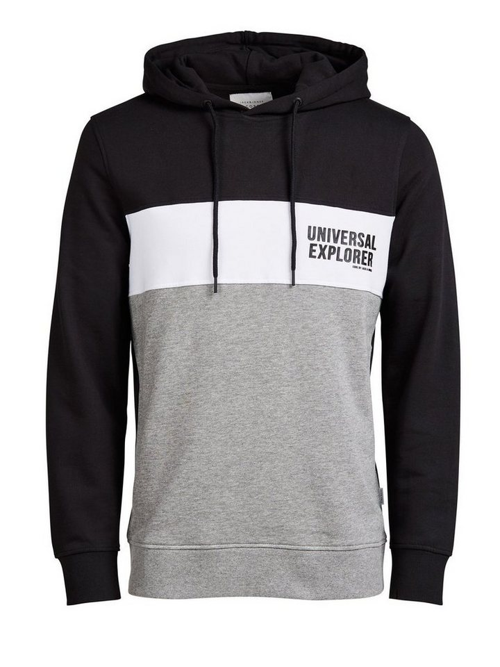 Jack & Jones Colour-Blocking- Hoodie in Black
