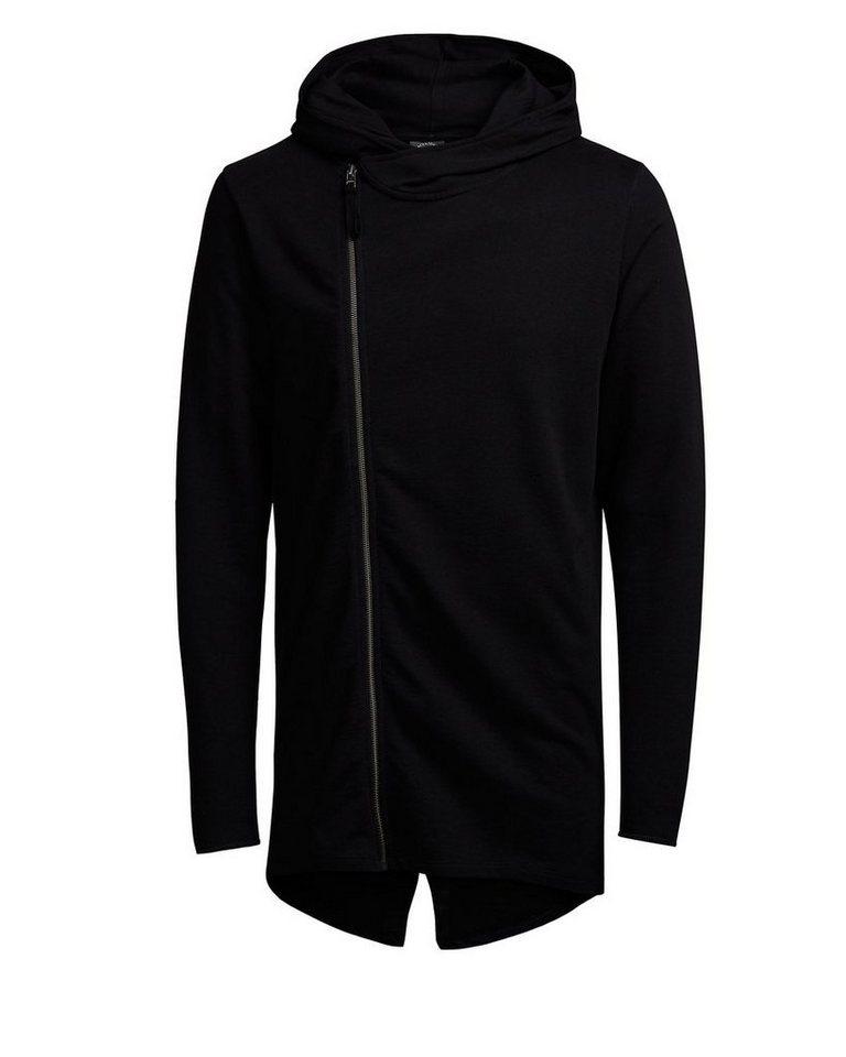 Jack & Jones Long-Fit- Hoodie in Black