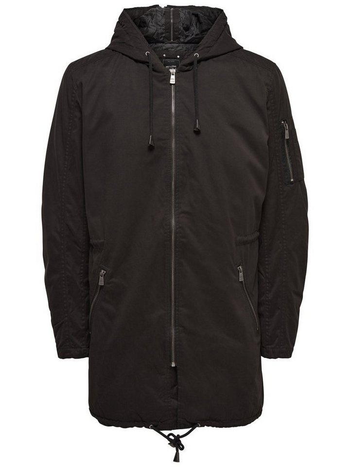 ONLY & SONS Detaillierter Parka in Black