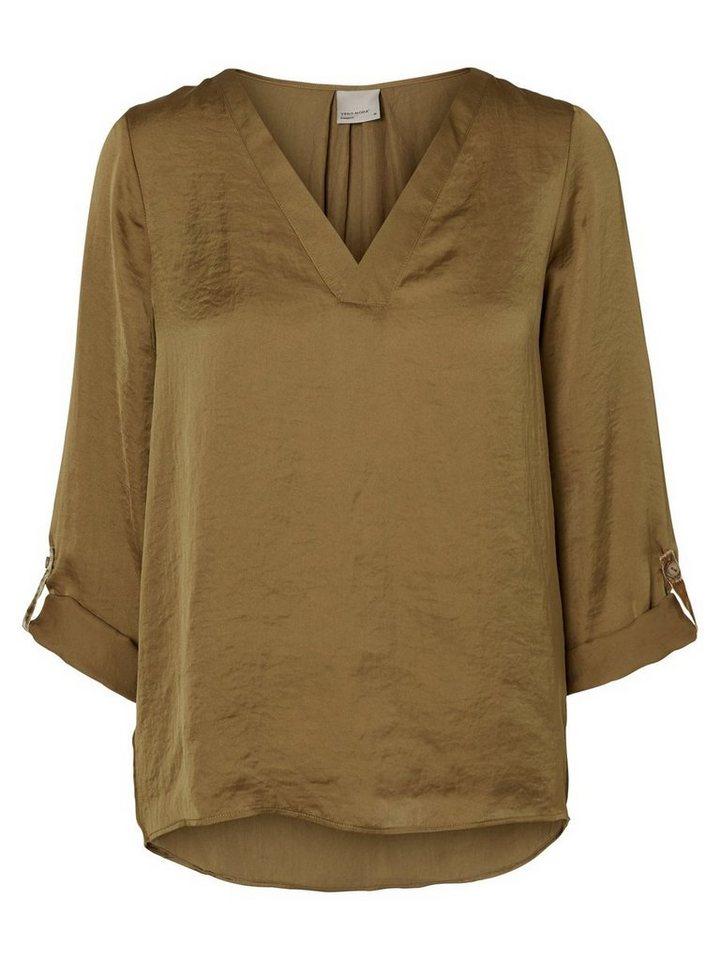 Vero Moda Feminine Bluse mit 3/4 Ärmeln in Kangaroo