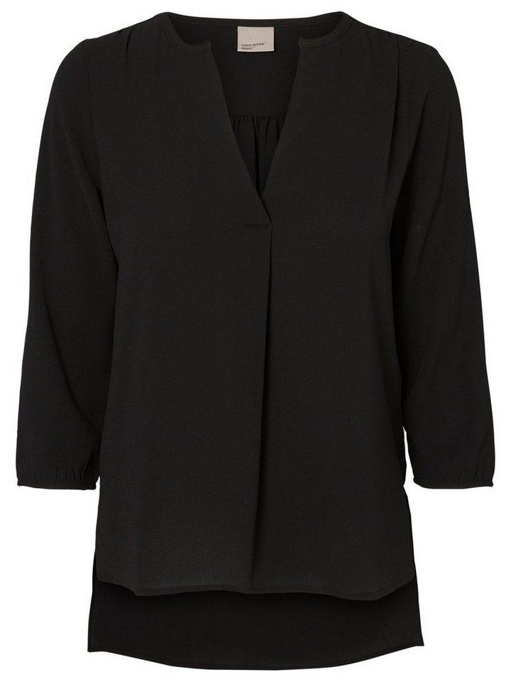 Vero Moda Loose-Fit- Bluse mit 3/4 Ärmeln in Black