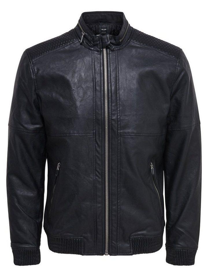 ONLY & SONS Lederlook- Jacke in Black