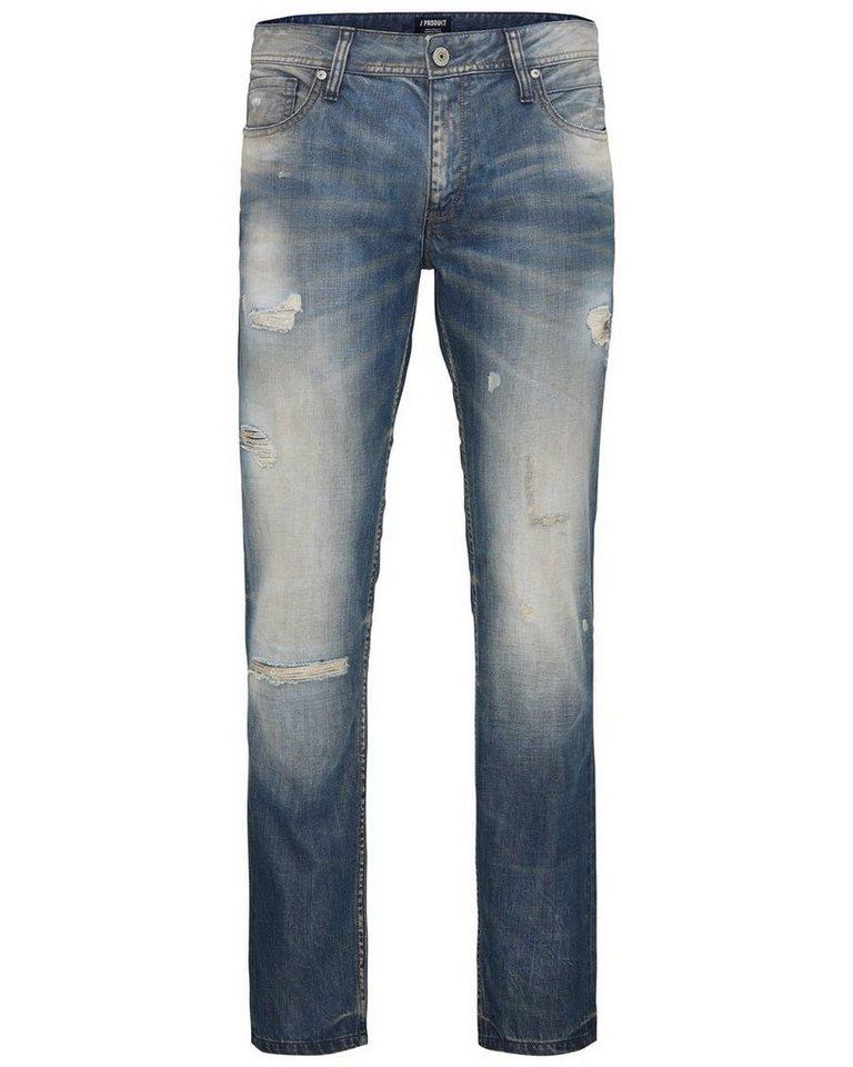 PRODUKT Washed- Regular fit Jeans in Light Blue Denim