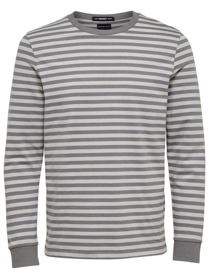 Selected Crew-Neck- Sweatshirt in Dark Grey