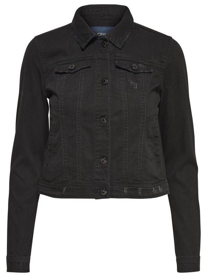 Only Niet- Jeansjacke in Black