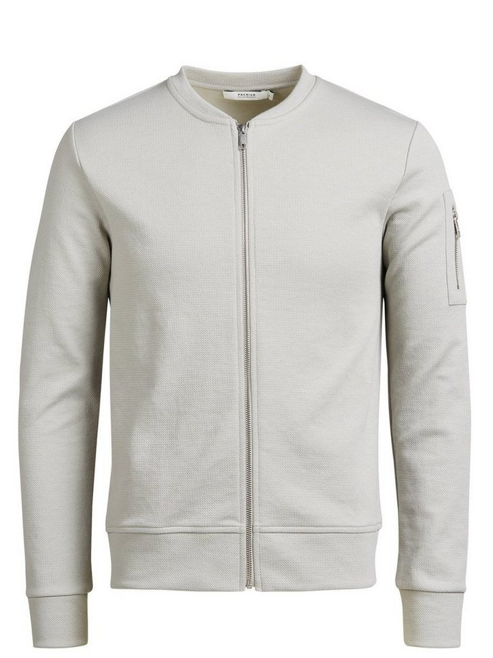 Jack & Jones Komplettreißverschluss- Sweatshirt in Mirage Gray