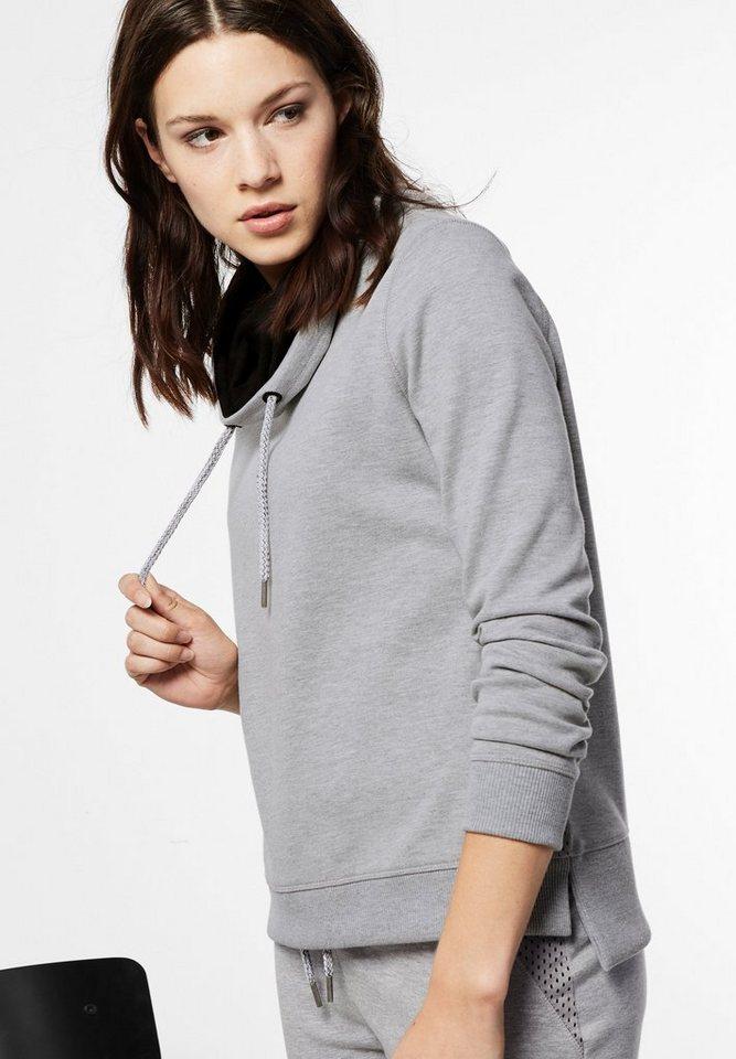 Street One Sweatshirt Stephanie in ghost grey melange